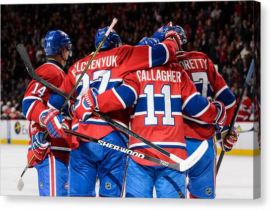 Florida Panthers V Montreal Canadiens Canvas Print by Minas Panagiotakis