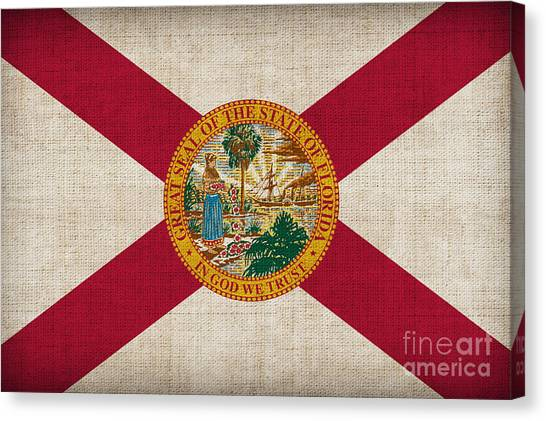 Florida State Canvas Print - Florida State Flag by Pixel Chimp
