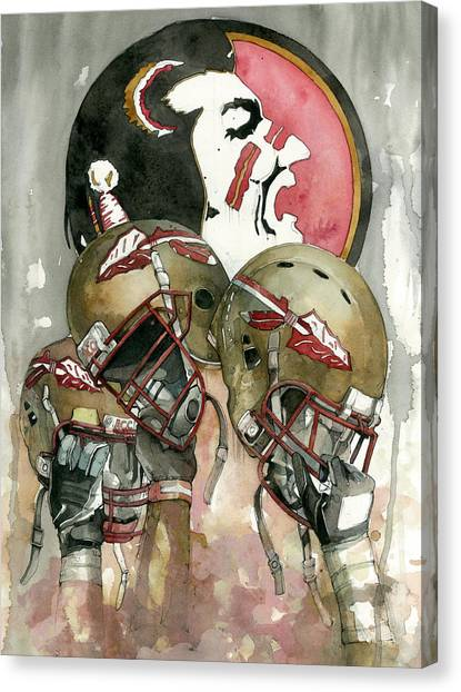 Acc Canvas Print - Florida State Seminoles by Michael  Pattison