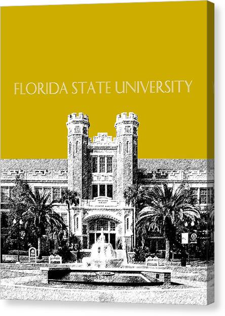 Colleges And Universities Canvas Print - Florida State University - Gold by DB Artist