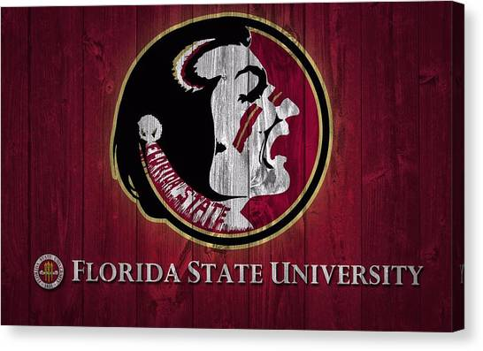 Florida State University Barn Door Canvas Print