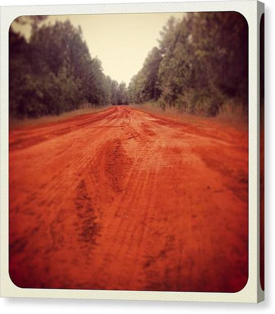 Dirt Road Canvas Print - #florida by Stephen Moody
