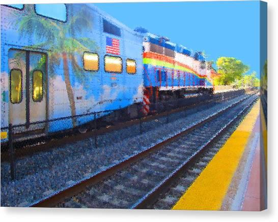 Florida Train Canvas Print