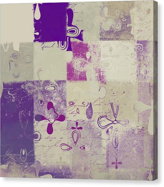 Floral Digital Art Canvas Print - Florus Pokus 02d by Variance Collections