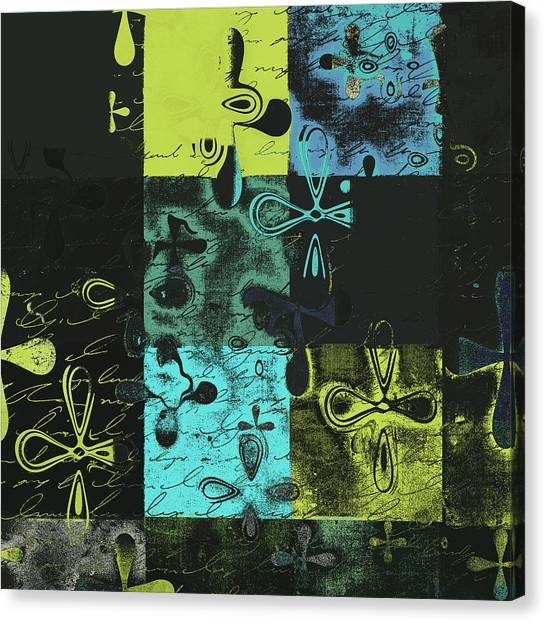 Floral Digital Art Canvas Print - Florus Pokus A02 by Variance Collections