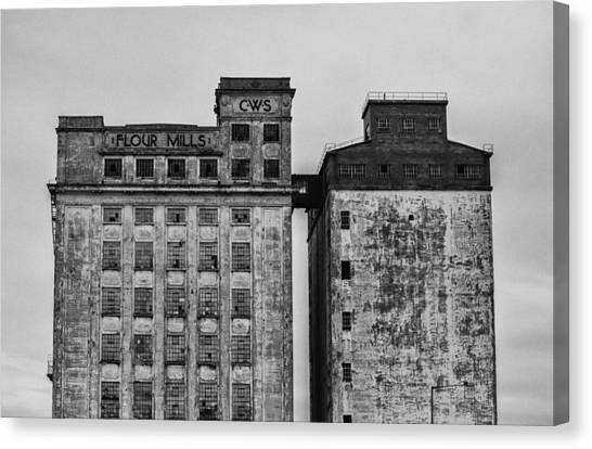 Flour Mills Canvas Print by Andrew Menzies