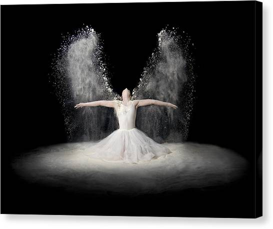 Angel Canvas Print - Flour Wings by Pauline Pentony Ba