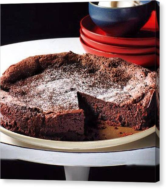 Passover Canvas Print - #flourless #chocolate #cake Now On by Bryce Gruber