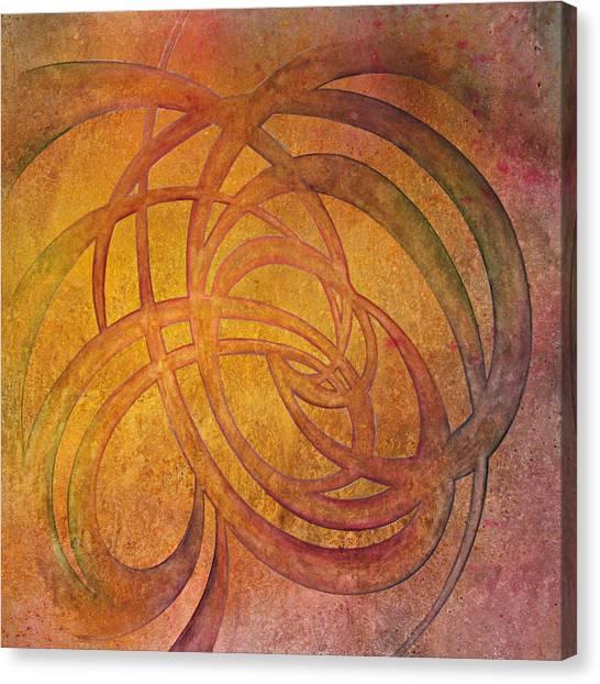 Knotwork Canvas Print - Flow #4 by Ellen Starr