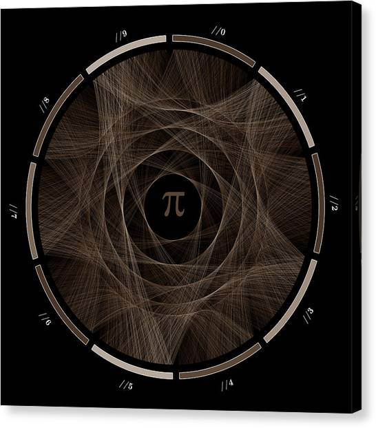Pi Canvas Print - Flow Of Life Flow Of Pi #2 by Cristian Vasile
