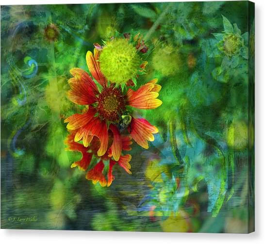 Flower Abstract Canvas Print by J Larry Walker