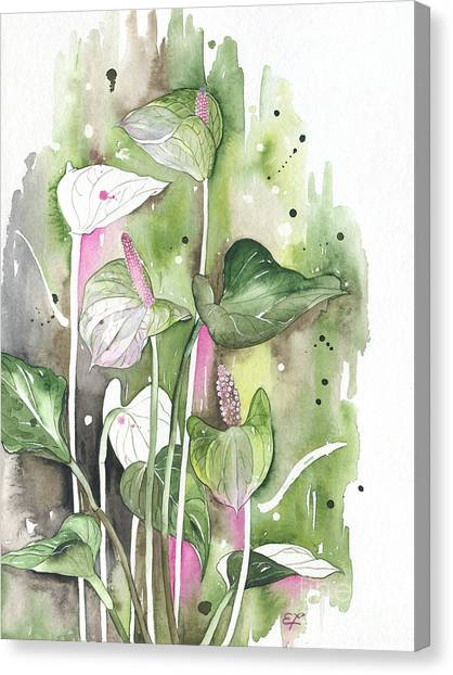 Flower Anthurium 04 Elena Yakubovich Canvas Print