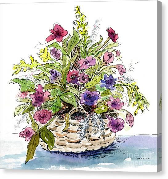 Flower Basket I Canvas Print
