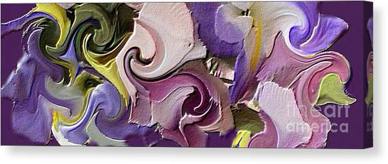 Border Wall Canvas Print - Flower Border by Michelle Frizzell-Thompson