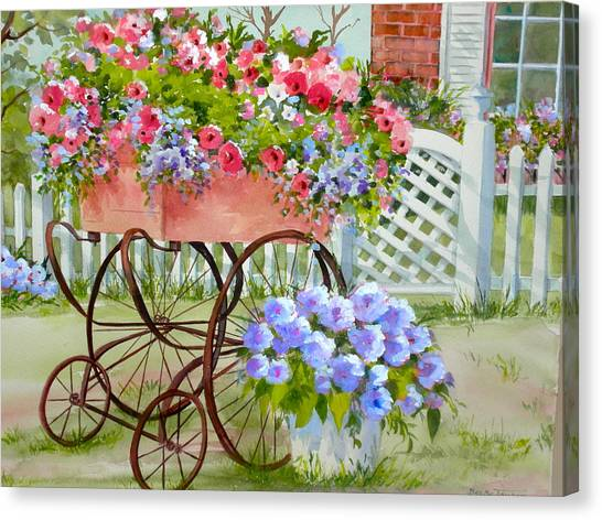 Flower Cart Canvas Print by Becky Taylor