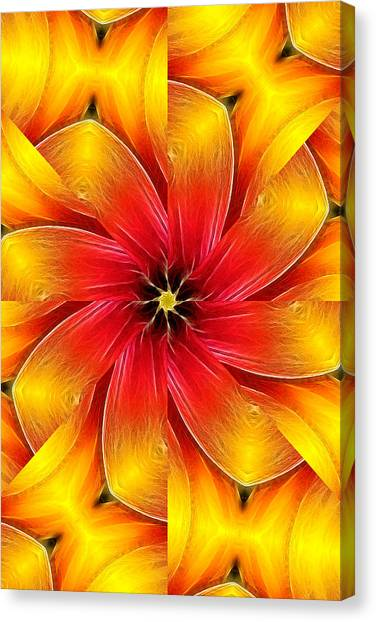 Flower Close-up--fractalius Kaleidoscope Canvas Print