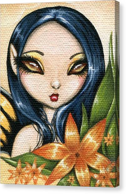 Flower Fairy Kasumi Canvas Print by Elaina  Wagner