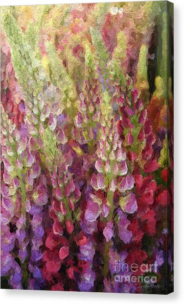 Pretty Flowers Canvas Print - Flower Garden by Linda Woods