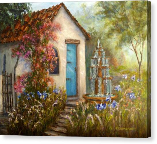 Flower Garden Paintings Canvas Print