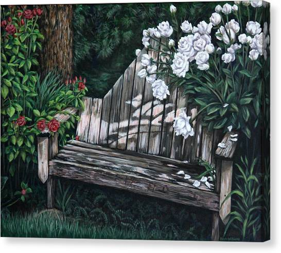 Flower Garden Seat Canvas Print