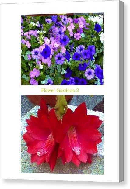 Flower Gardens B Canvas Print