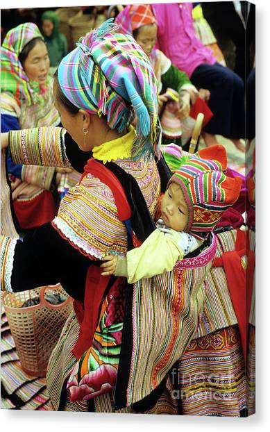 Flower Hmong Baby 03 Canvas Print by Rick Piper Photography