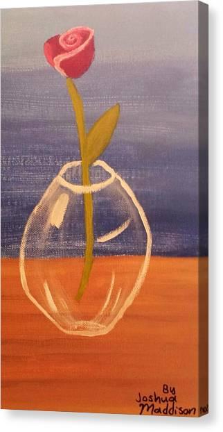 Flower In Vase Canvas Print