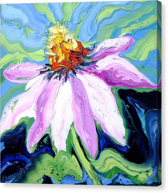 Flower Canvas Print by Isabelle Gervais