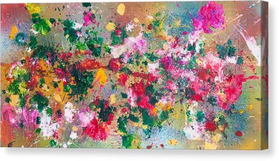 Flower Kaleidoscop Canvas Print