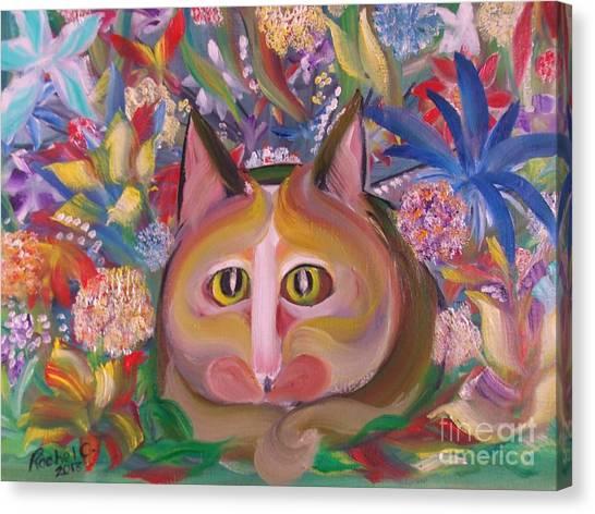 Flower Kitty Canvas Print