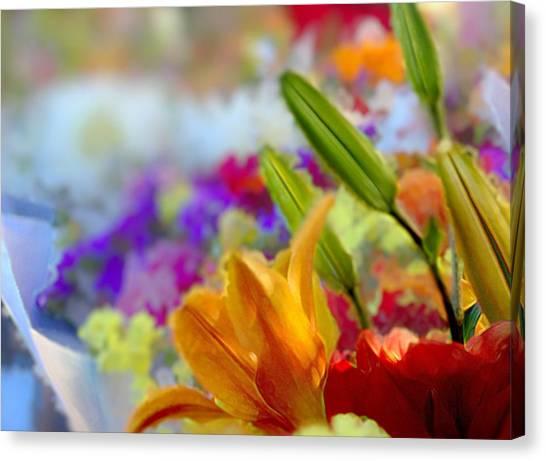 Flower Market 1 Canvas Print