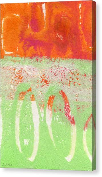 Magenta Canvas Print - Flower Market by Linda Woods