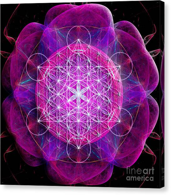 Flower Of Life No Two Canvas Print