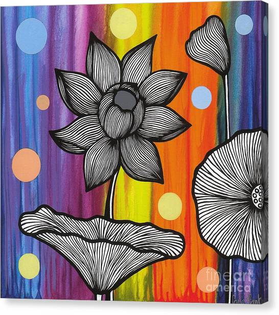 Canvas Print featuring the painting Flower Power by Carla Bank