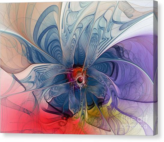 Flower Power-fractal Art Canvas Print