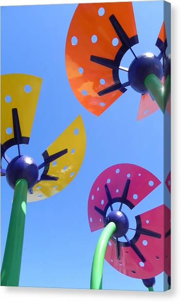 Flower Sculpture Canvas Print