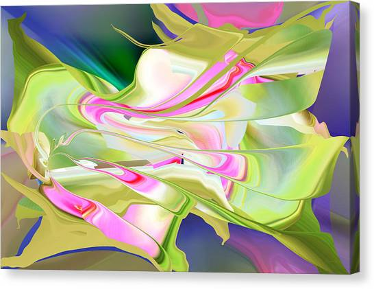 Canvas Print featuring the digital art Flower Song Abstract by rd Erickson