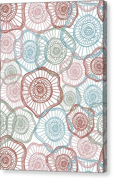 Abstract Flower Canvas Print - Flower Squiggle by Susan Claire