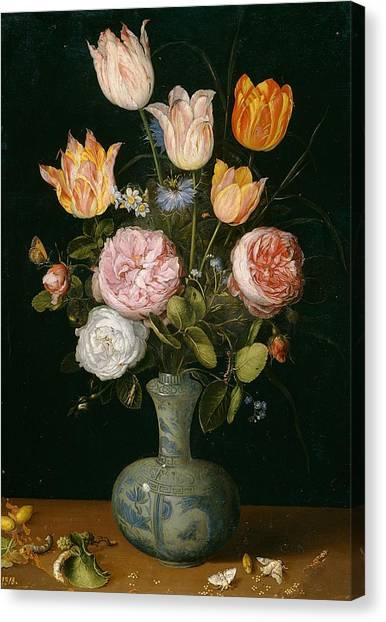 The Prado Canvas Print - Flower Vase by Jan Brueghel the Elder