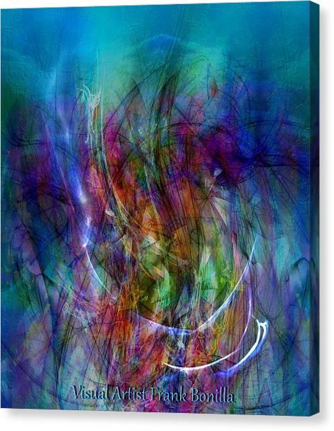 Canvas Print featuring the digital art Flower Vase by Visual Artist Frank Bonilla