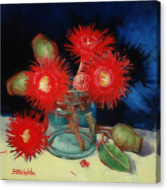 Flowering Gum Still Life Canvas Print