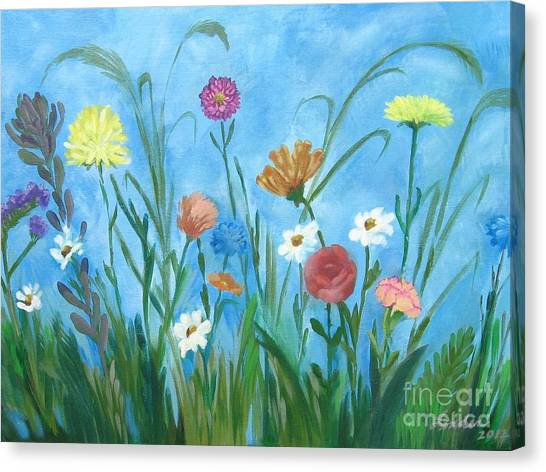 Flowers All Around Canvas Print