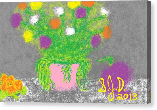 Flowers And Fruit Canvas Print by Joe Dillon