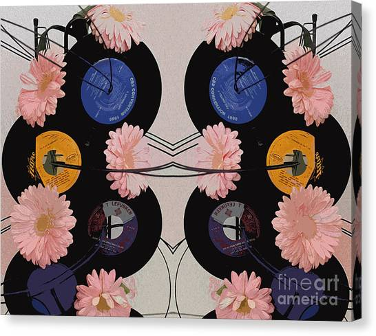 Flowers And Phonographs Canvas Print