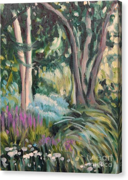 Flowers And Shade Canvas Print by Hilary England
