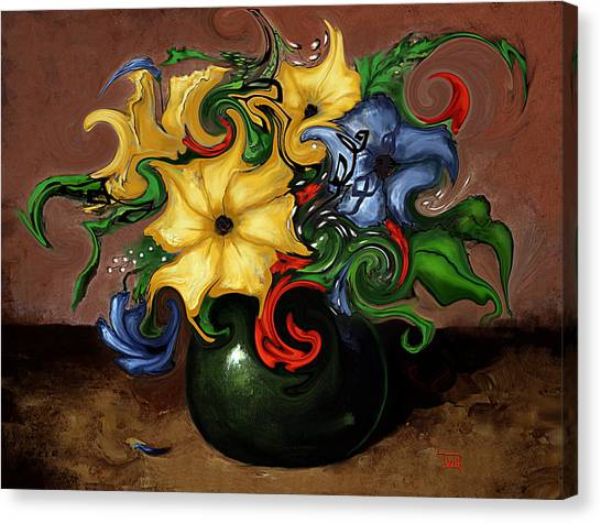 Flowers Dancing Canvas Print