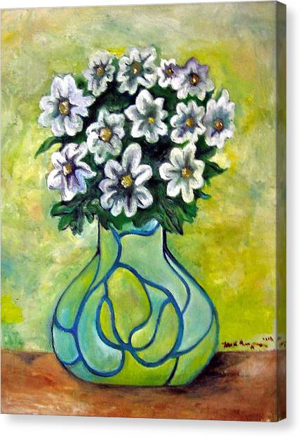 Flowers For Jenny Canvas Print by Martel Chapman