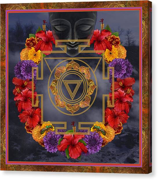 Sacred Geometry Canvas Print - Flowers For Kali Ma by Nadean OBrien