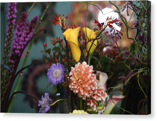 Flowers From My Window Canvas Print