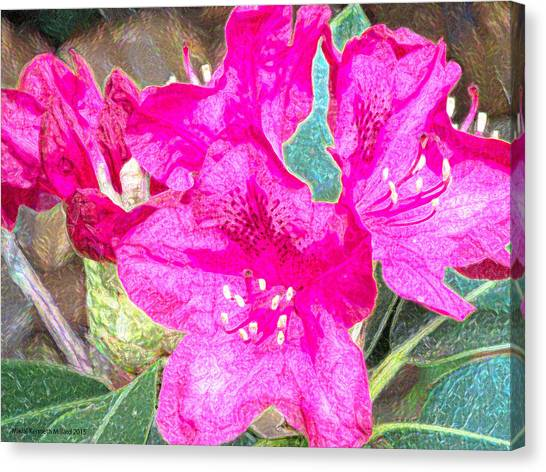 Flowers Full Of Life Canvas Print by Aeabia A